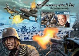 MALDIVES 2015 - World War 2: D-Day S/S Official Issue - 2. Weltkrieg