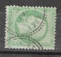 Empire N° 20, 5 C Vert Obl Cachet PERLE De HERIMONCOURT, Doubs , TB, Peu Courant - 1862 Napoleon III