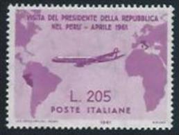 1961 Repubblica Italiana - Lire 205 Gronchi Rosa - Nuovo Mnh** - 6. 1946-.. Repubblica