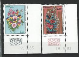 """Monaco YT 1398 Et 1399 """" Concours De Bouquets """" 1983 Neuf** BDF Daté - Neufs"""