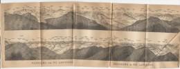 1903´s  Profile Of The Swiss Mountains From PIZ LANGUARD   Etc Switzerland Suisse Svizzera Schweiz - Mapas Geográficas