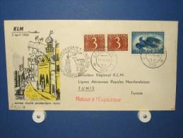 FFC First Flight 148 Amsterdam - Tunis Tunesië 1959 - A522a (nr.Cat DVH) - Tunesië (1956-...)