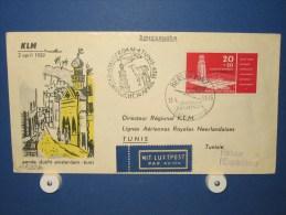 FFC First Flight 150 Amsterdam - Tunis Tunesië 1959 - A522b (nr.Cat DVH) - Tunesië (1956-...)
