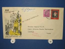 FFC First Flight 151 Amsterdam - Tunis Tunesië 1959 - A522b (nr.Cat DVH) - Tunesië (1956-...)