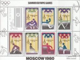 Nord-Corée 1890-1896 Feuille Miniature (complète.Edition.) Oblitéré 1979 Piktogramme - Olympe. Jeux '80 - Korea, North