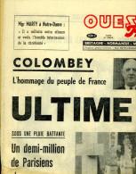 Ouest-France 13 Novembre 1970 : Ultime Adieu à De Gaulle - Testi Generali
