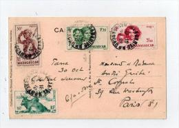 Cp De TANANARIVE Pour La France 1951 - Madagascar (1889-1960)