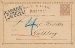 LOEWENBERG / Schlesien - 1875 - Ganzsachen