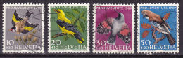 Helvetie Swiss Zwitserland  1969  Mi.nr 914-917     Yv.nr. 846-849   Used   Birds Vogels - Svizzera