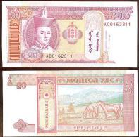 Mongolia 20 Tugrik 1993 Pick-55 UNC - Mongolia