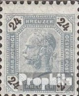 Autriche 64 avec charni�re 1891 Franz joseph