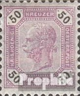 Autriche 66 avec charni�re 1891 Franz joseph
