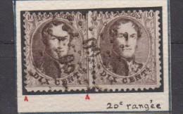 N°14B LP 60 BRUXELLES BDF Inférieur - 1863-1864 Médaillons (13/16)