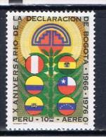 PE+ Peru 1976 Mi 1024 Mnh Deklaration Von Bogota - Peru