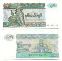 Myanmar 20 Kyats 1994 Pick-72 UNC - Myanmar