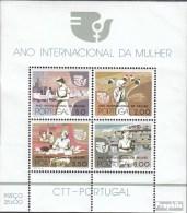 Portugal Bloc 16 (complète.Edition.) Neuf Avec Gomme Originale 1975 International Année Le Femme - Blocks & Sheetlets