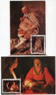 DAHOMEY CARTES  MAXIMUM DES PA 178/179 TABLEAUX DE GEORGES DE LA TOUR  OBLITERATION 1er JOUR  COTONOU 11 DEC. 72 - Bénin – Dahomey (1960-...)