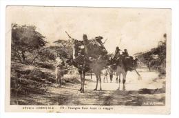 BT97   AFRICA ORIENTALE SOMALIA  - Famiglia Beni Amer In Viaggio,  Famille Beni Amer Voyage - Vg. 1936 - Somalie