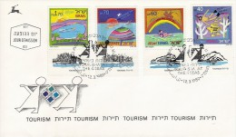 ISRAEL TOURISM Sc 1007-1010 FDC 1989 - Holidays & Tourism
