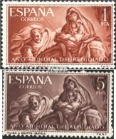 Espagne 1221-1222 (complète.Edition.) Neuf Avec Gomme Originale 1961 Année Mondiale Des Réfugiés - 1961-70 Ungebraucht