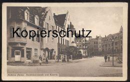 ALTE POSTKARTE MÜLHEIM RUHR BEZIRKSKOMMANDO UND KASERNE Casern Caserne Ansichtskarte AK Cpa Postcard - Muelheim A. D. Ruhr