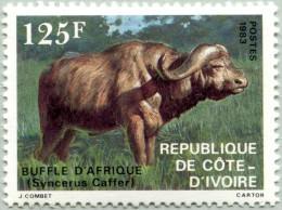 N° Michel 770 (YT N° 652) - Timbre De Côte D´Ivoire (MNH) (1983)  - Buffalo (JS) - Côte D'Ivoire (1960-...)