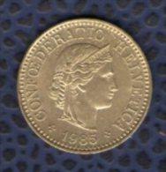 Suisse 1985 Pièce De Monnaie Coin 5 Rappen - Suiza