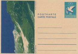 Postkarte - Carte Postale.  Liechtenstein.  A-3486 - Stamped Stationery