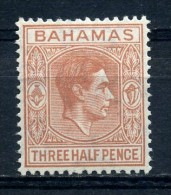 BAHAMAS    1938    1 1/2d   Red  Brown    MH - 1859-1963 Crown Colony