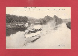 * CPA..dépt 77..LA FERTE Sous JOUARRE :  L' Ile Et La Marne En Amont Du Pont   ( Duburcq )    : Voir Les  2 Scans - La Ferte Sous Jouarre