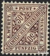 Württemberg D235b Neuf Avec Gomme Originale 1906 Numéros Dans Signs - Wuerttemberg
