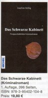 Helbig Krimi Das Schwarze Kabinett 2014 Neu ** 20€ Philatelistische Kriminalroman New Philatelic History Book Of Germany - Allemand