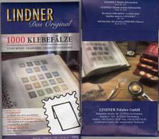 Klebefalze Für 2000 Briefmarken Vorgefalzt New 6€ Zum Traditionelle Sammeln Von LINDNER #7040 Join Fold Out Germany - Pin's