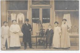 Devanture De MAGASIN - Maison MARTIN - CARTE PHOTO Non Située - Geschäfte