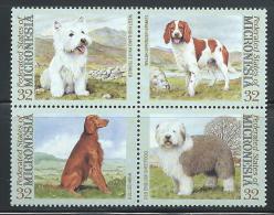 """Micronesia     """"Dogs""""    Block Of 4    SC# 211  MNH** - Micronesia"""