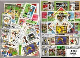 Aktuelles Fussball Sortiment 100 Verschiedene Briefmarken Firma Lindner Ca. 60€ Fußball Football Soccer Set Of The World - Fútbol