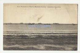 2796 ARGENTINA CHUBUT PUERTO MADRYN LA PLAYA BEACH AND SHIP POSTAL POSTCARD - Argentinien