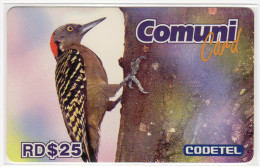 REPUBLIQUE DOMINICAINE CARAIBES PREPAYEE 25$ COMMUNICARD CODETEL OISEAU