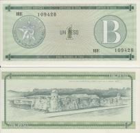 1985-BK-8 CUBA 1$ CURRENCY CERTIFICATE. CERTIFICADO DE DIVISAS B. UNC PLANCHA. 1985. - Cuba