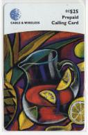 GRENADE CARAIBES PREPAYEE CABLE & WIRELESS 25$ - Grenada