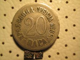 SERBIA 20 Para 1883    # 1 - Serbia
