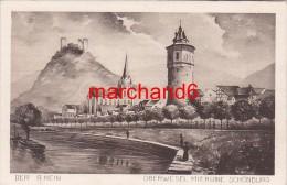 Allemagne Der Rhein Oberwesel Mit Ruine Schönburg - Oberwesel