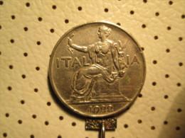 ITALY 1 Lira 1922   # 1 - 1861-1946 : Kingdom