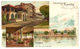 21852  Ceylon Kandy 1908  Salutations De Kandy - Sri Lanka (Ceylon)