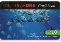 BONNAIRE   CELLULARONE  10 Nafl  Poisson - Antilles (Netherlands)