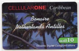 BONNAIRE   CELLULARONE  10 Nafl - Antilles (Neérlandaises)