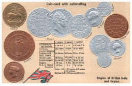 21967 Coin Card  1907 Empire Of British India And Ceylon - Monnaies (représentations)