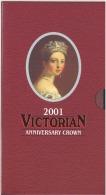 GREAT BRITAIN UK OFFICIAL ROYAL MINT 5 POUND BUNC VICTORIA REGINA 2001 - 1971-… : Monnaies Décimales