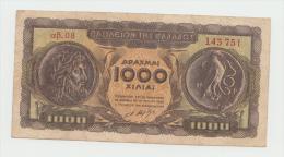 GREECE 1000 DRACHMAI 1950 VF Pick 326a 326 A - Grecia