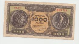GREECE 1000 DRACHMAI 1950 VF+ Pick 326a 326 A - Greece